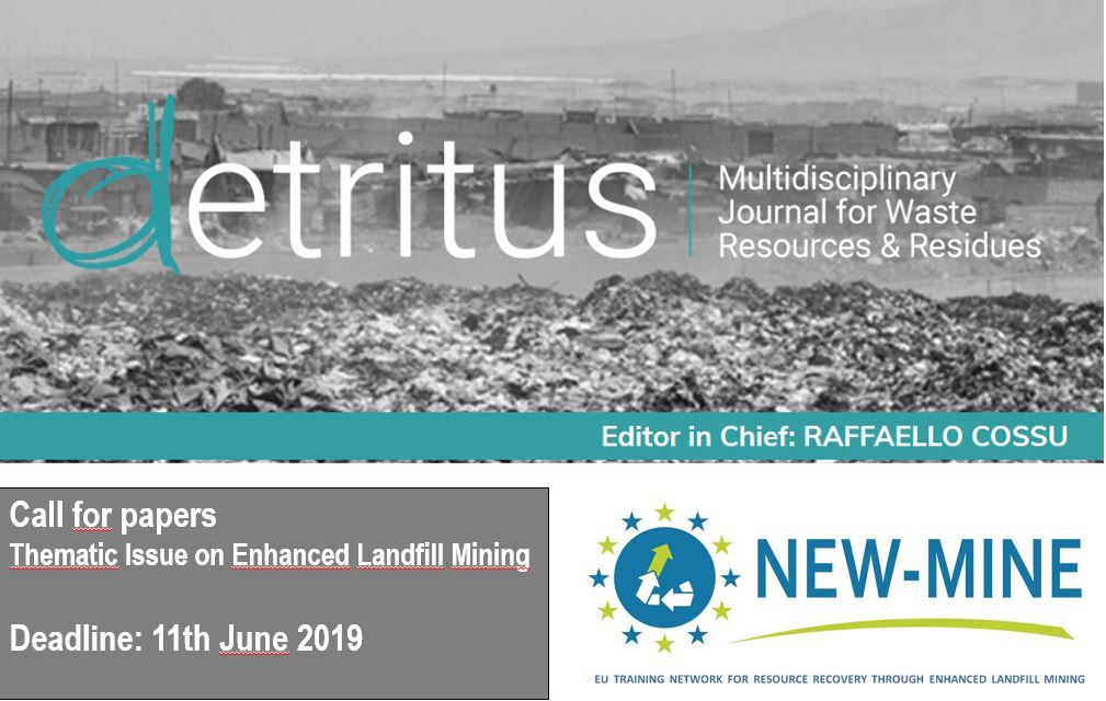 Call for papers for Thematic Issue on ELFM in Detritus